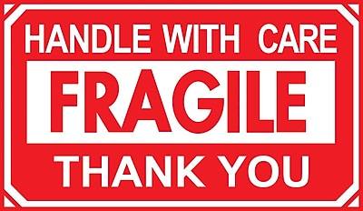 Staples Handle with Care/Thank You Label, 5