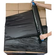 "Black Opaque Goodwrappers Stretch Wrap Systems, 80 Gauge, 20"" x 1,000', 4 Rolls/Case"