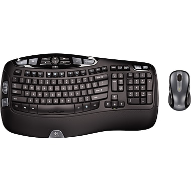 Logitech MK550 Wireless Desktop Wave Keyboard and Laser Mouse Combo (920-002555/0264)