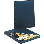"Fellowes® Executive Binding Covers, Leather Texture, Oversized, Rounded Corners, 8 3/4"" x 11 1/4"", Navy, 50/Pk"