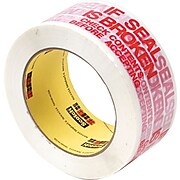"Scotch® Printed Message Box Sealing Tape, ""IF SEAL IS BROKEN CHECK CONTENTS BEFORE ACCEPTING"", 1.88"" x 109 yds., White (3771)"