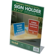 "NuDell™ L-Shaped Sign Holder, Clear,  8-1/2"" x 11"""