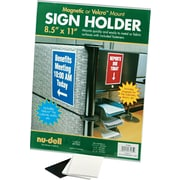 """NuDell™ All-Purpose Sign Holder, Clear, 8-1/2"""" x 11"""""""