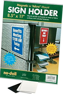 NuDell™ All-Purpose Sign Holder, Clear, 8-1/2