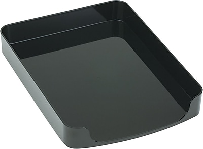 OIC® 2200 Series Black Plastic Front-Load Letter Tray