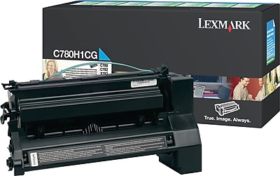 Lexmark Cyan Toner Cartridge (C780H1CG), High Yield, Return Program