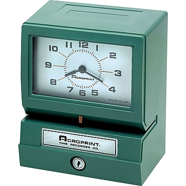 Acroprint Horodateur électrique, Mois/Date/Heure/Minute