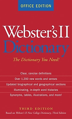 Houghton Mifflin Harcourt Webster's New Basic Dictionary, Office Edition, Paperback, 896 pages, 2