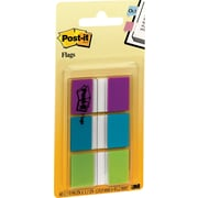 "Post-it® Flags, 1"", Green/Blue/Purple, 60-Pack"