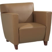 Office Star™ Taupe Leather Club Chair
