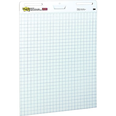 Post-it® Self Stick Easel Pad, White with Grid Lines, 25