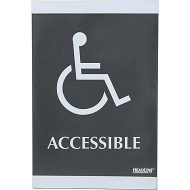 Headline Sign® - Affiches ADA série Century, « ACCESSIBLE » (fauteuil roulant)