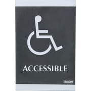 Headline Sign® Century Series ADA Sign, Wheelchair Accessible