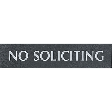 Headline Sign® - Affiche « PAS DE COLPORTAGE », anglais (NO SOLICITING)