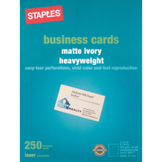 Staples® Laser Business Cards, Ivory, 250/Pk