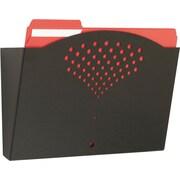 Safco Steel Wall Pocket, Letter-Size, Black