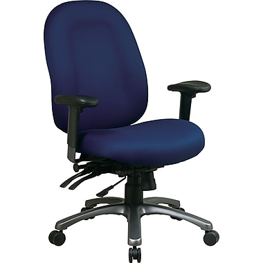 Office Star™ Fabric Computer and Desk Office Chair, Navy, Adjustable Arm (8511-225)