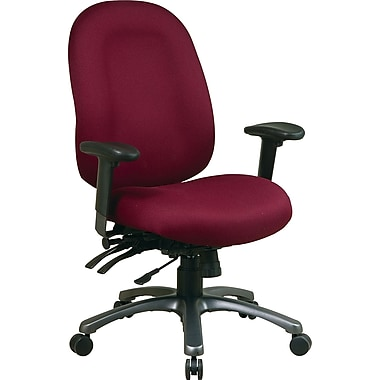 Office Star™ Fabric Computer and Desk Office Chair, Burgundy, Adjustable Arm (8511-227)