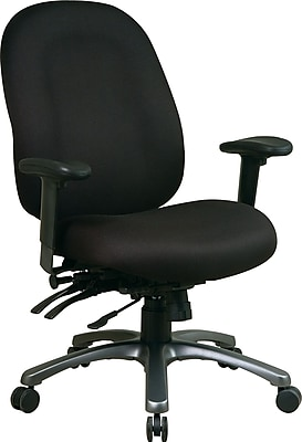 Office Star Fabric Computer and Desk Office Chair, Black, Adjustable Arm (8511-231)