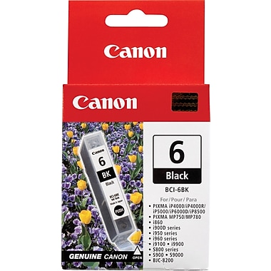 Canon® BCI-6Bk Black Ink Tank (4705A003)