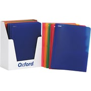 "Oxford Translucent Twin-Pocket Poly Portfolios, Assorted Colors, 8 1/2"" x 11"", 25/Bx"