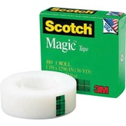 "Scotch® Magic™ Tape 810, 1"" x 36 yds, 1"" Core"