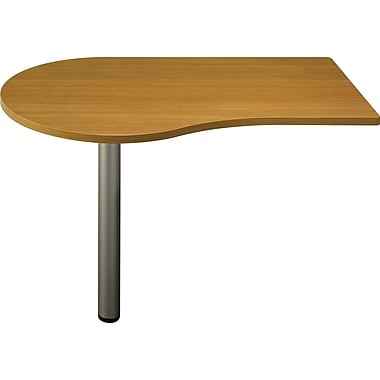 Bush Business Furniture Quantum 48W b Peninsula, Modern Cherry (QT7455MCFA)
