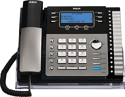 RCA 4-Line Corded Expandable Phone System, With Intercom (No Caller-ID)