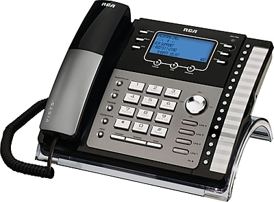 rca 25424re1 4 line integrated telephone system with caller id rh staples com rca 25424re1 manual for voicemail rca visys model 25424re1-a manual