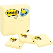 """Post-it® Notes Value Pack, 3"""" x 3"""" Canary Yellow, 24 Pads/Pack (654-24VAD-B)"""