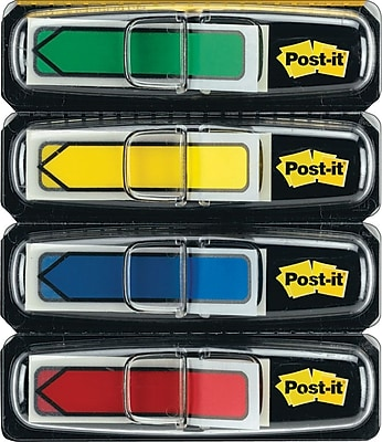 Post-it® Assorted Arrow Flags with Pop-Up Dispenser, 1/2