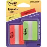 "Post-it® 2"" Green & Orange Durable Tabs, 44 Tabs/Pack"