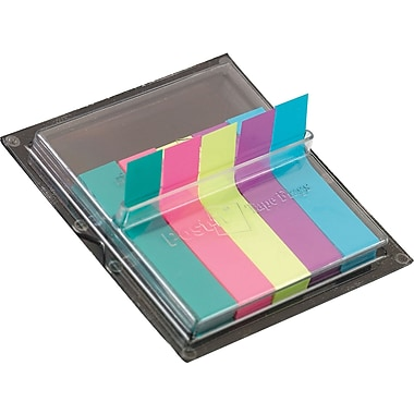 Post-it® Neon Page Markers with Pop-Up Dispenser, 375 Flags/Pack