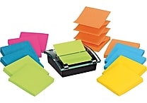 Post-it® Pop-up Dispenser for 3' x 3' Notes, Black, with 12 Post-it® Super Sticky Notes (DS330-SSVA)