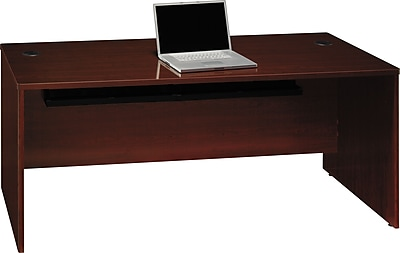 Bush Business Furniture Quantum 72W Desk Shell, Harvest Cherry (QT0705ACSFA)