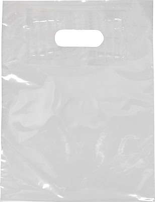 Staples Low Density Patch Handle Bag, Bottom Guesseted, 15