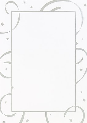 Great Papers® Silver Stars & Streamers Flat Card Invitation with Envelopes