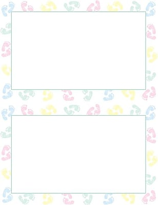 Great Papers Baby Feet 2Up Invitations with Envelopes Staples