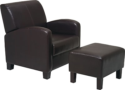 OSP Designs® Faux Leather Club Chair with Ottoman MET807