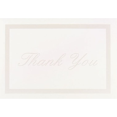 Great Papers® Pearl Border Ivory Thank You Note Card with Envelopes, 50/Pack