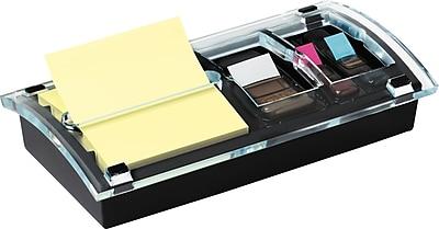 Post-it® Pop-up Notes/Flags Dispenser Starter Kit, Yellow, 3