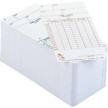 Acroprint® - Cartes de présence bimensuelles pour horodateurs ATR, anglais