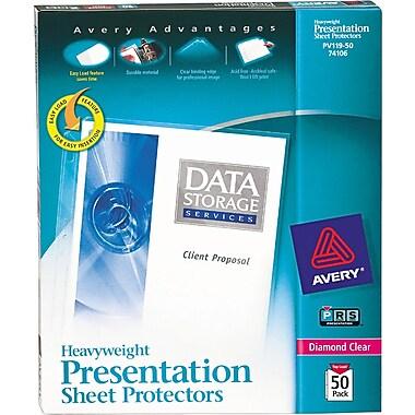Avery® Heavyweight Presentation Sheet Protectors, 50/Pack