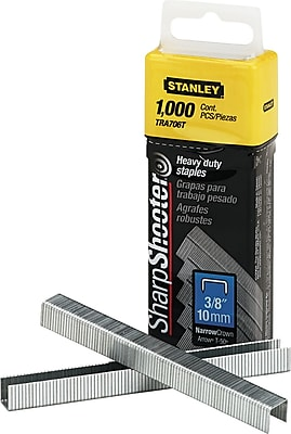 Stanley Bostitch SharpShooter® Heavy-Duty Staple Gun Staples, 3/8