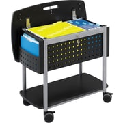 "Safco® Scoot™ Work Surface Top File Cart, Letter and/or Legal, Black, 27""H x 29 3/4""W x 18 3/4""D"