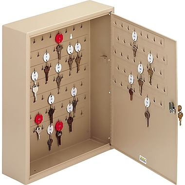 MMF Industries™ STEELMASTER® Dupli-Key® Two-Tag Cabinet, Sand, 120 Key Capacity, 20 1/8in.H x 16 1/2in.W x 4 7/8in.D