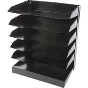 "National Industries Horizontal Desk Organizers, 6 Shelf, Black, 12""W x 9""D"