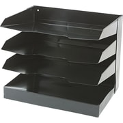 "National Industries Horizontal Desk Organizers, 4 Shelf, Black, 12""W x 9""D"