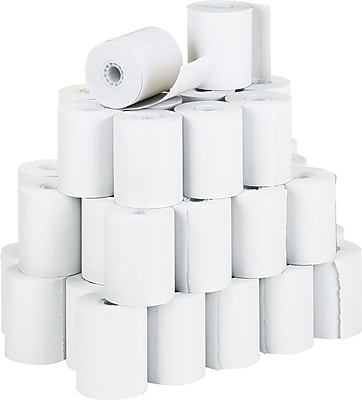PM Company® Impact Bond Recycled Receipt Paper Roll, White, 3 1/4