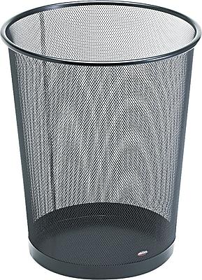 Eldon Mesh Wastebasket, 3 1/2 Gallons, Black, 14 1/4